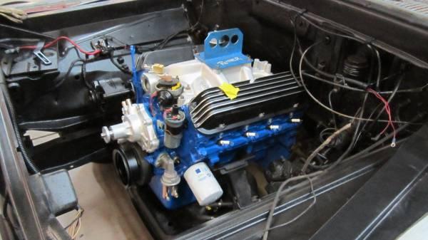 Rebuilt motor in the engine bay