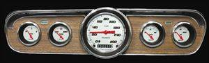 Gauges - Velocity White Series 1965-1966 Mustang Pkg