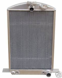 Cooling - 1932 Ford Car Aluminum Radiator with Internal Trans Cooler