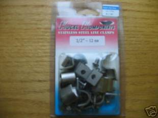 "Accessories - Stainless Steel Single Line Clamps 1/2"" - Image 1"