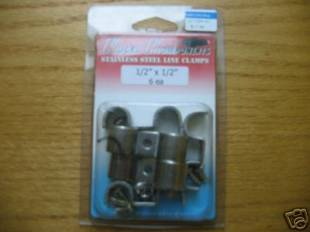 "Accessories - Stainless Steel Double Line Clamps 1/2""-1/2"" - Image 1"