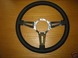 Steering and Handling - Lecarra - Mark 4 Elegante Black Leather Steering Wheel - 43201