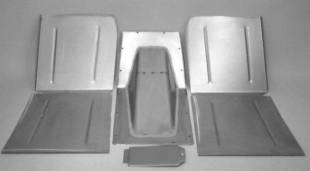 Steel Parts - 1928-1936 Chevy Car Complete Floor Kit For Use With Stock Firewall