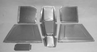Steel Firewalls and Floors - 1940 Chevy Front Floor Kit for Stock Firewall - Image 1