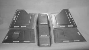 """Steel Firewalls and Floors - 1941-1948 Chevy Front Floor for 2"""" Setback Firewall - Image 1"""