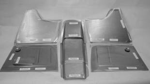 "Steel Firewalls and Floors - 1941-1948 Ford Front Floor Kit for 4"" Setback Firewall - Image 1"