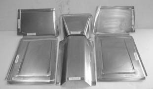 Steel Firewalls and Floors - 1941-1948 Ford Front Floor Kit for Stock Firewall - Image 1