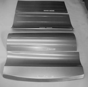 Steel Firewalls and Floors - 1933-1934 Ford Car Rear Floor Section - Smooth - Image 1