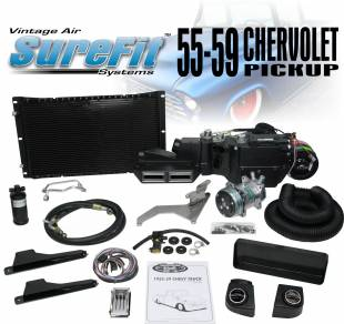 Air Conditioning - 1958 - 1959 Chevy Truck Gen IV SureFit Complete Kit Deluxe