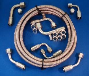 "Air Conditioning - A/C Compressor Hose Kit ""Tight-Fit"" Rear Exit"