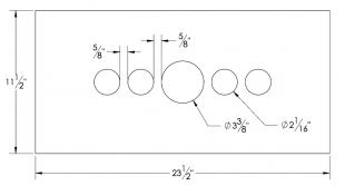 Steel Firewalls and Floors - Dash Panel Insert Gauges Either Side of Speedo - Aluminum - Image 1