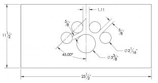 Steel Firewalls and Floors - Dash Panel Insert Gauges Arch Over Speedo - Aluminum - Image 1