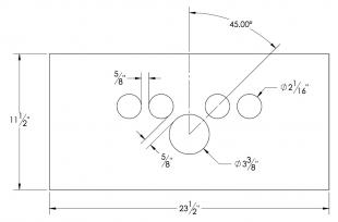 Steel Parts - Dash Panel Insert Gauges Spread over Speedo - Stainless Steel