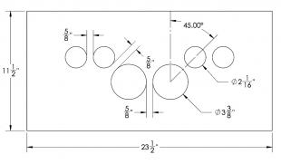 Steel Firewalls and Floors - Dash Panel Insert Gauges Spead over Speedo and Tach - Steel - Image 1