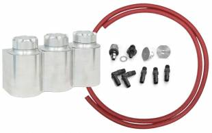 Accessories - Aluminum Triple Remote Reservoir Kit For Wilwood Master
