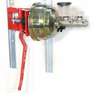 """Brakes and Brake Kits - 90° Under Dash Brake Pedal Assembly With 7/8ths Bore Aluminum M/C and 8"""" Dual Booster - Image 1"""