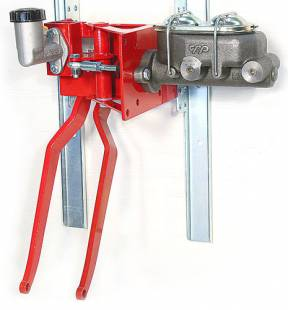 "Brakes and Brake Kits - 90° Under Dash Brake Pedal Assembly With 1"" Bore Cast Iron M/C and Clutch Reservoir - Image 1"