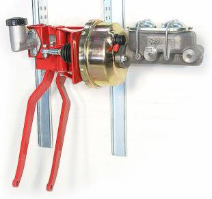 """Brakes and Brake Kits - 90° Under Dash Brake Pedal Assembly With 1"""" Bore Cast Iron M/C, Clutch M/C and 7"""" Booster - Image 1"""