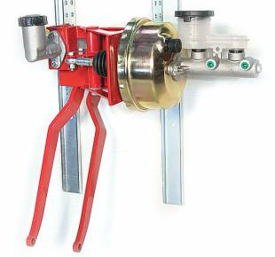 """Brakes and Brake Kits - 90° Under Dash Brake Pedal Assembly With 1"""" Bore Aluminum M/C, Clutch M/C and 7"""" Booster - Image 1"""