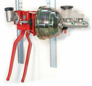 """Brakes and Brake Kits - 90° Under Dash Brake Pedal Assembly With 1"""" Bore Aluminum M/C, Clutch M/C and 8"""" Dual Booster - Image 1"""