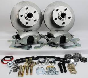 """1955-1957 Chevy Front 11"""" Disc Brake Kit with Power Booster - Image 1"""