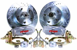 """1955-1957 Chevy Front 11"""" D/S Disc Brake Kit with Power Booster - Image 1"""