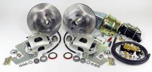 """1955-1959 Chevy Truck Front 11"""" Disc Brake Kit with Power Booster - Image 1"""