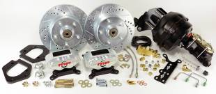 """1967-1969 Mustang Front 11"""" D/S Disc Brake Kit with Power Booster - Image 1"""