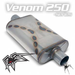"Venom 250-series muffler - 3"" offset/center - Image 1"