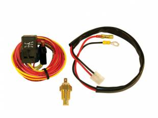 Electric Single Fan Wiring Harness, Relay, Thermo Switch - Image 1