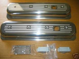 RPC Center Bolt Vortec Billet Ball Milled Valve Covers for SBC - Image 1