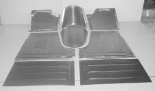 Steel Firewalls and Floors - 1948-1952 Ford Truck Front Floor Kit for STOCK Firewall