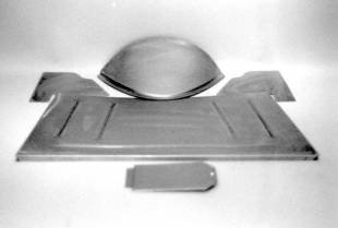 Steel Firewalls and Floors - 1928-1931 Ford Car/Truck Front Floor Section - SB/BB - Image 1