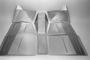 Steel Firewalls and Floors - 1937-1942 Willys Front Floorboard Section - Image 1