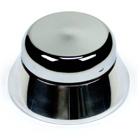 Steering and Handling - Chrome 3-Bolt Steering Wheel Adaptor - 'Bell' style with Horn - Image 1