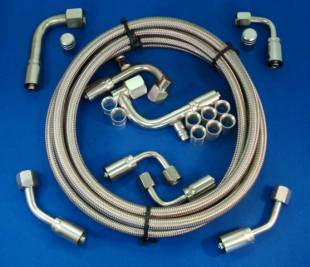 Air Conditioning - Stainless Steel Tight-Fit A/C Hose Kit