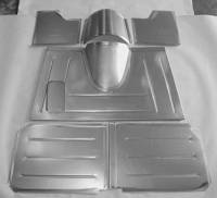 Direct Sheet Metal - 1935 - 1940 Ford Car and Pickup - Steel Parts - 1935-1939 Ford Pick-Up Floor Kit for Stock Firewall