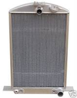 PRC Radiators - Cooling - 1932 Ford Car Aluminum Radiator with Internal Trans Cooler