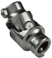 Borgeson Universal (Steering Components) - Stainless Steel Single U-joint - Stainless Steel Single U-joint 3/4 DD X 9/16-26 Spline