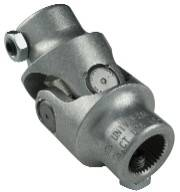 Borgeson Universal (Steering Components) - Aluminum Single U-Joint - Aluminum U-Joint 3/4-36 Spline X 3/4-36 Spline