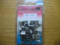 Kugel Komponents (Brake/Clutch Pedal Assemblies) - Accessories - Stainless Steel Single Line Clamps 3/8""