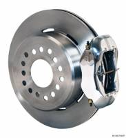 "Wilwood Disc Brakes - Rear GM 10 or 12 Bolt Disc Brakes - Brakes and Brake Kits - Polished Calipers and 12"" Rotors with Parking Brake"