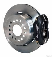 """Wilwood Disc Brakes - Rear GM 10 or 12 Bolt Disc Brakes - Brakes and Brake Kits - Black Calipers and 12"""" Rotors with Parking Brake"""
