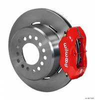 "Wilwood Disc Brakes - Rear GM 10 or 12 Bolt Disc Brakes - Brakes and Brake Kits - Red Calipers and 12"" Rotors with Parking Brake"