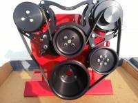 Engine Components - BBC Turbo Trac V-Belt Drive System -Chevy Black - Image 1