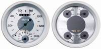 Classic Instruments (Gauges) - 1947-53 Chevy Truck Gauges - 1947-1953 Chevy Truck All American White W/Speedtachular