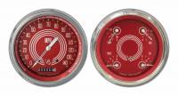 Classic Instruments (Gauges) - 1947 - 1953 Chevy Truck Gauges - 1947 -  1953 Chevy Truck V8 Red Steelie w/Speedtachular