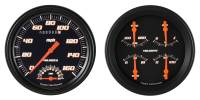 Classic Instruments (Gauges) - 1947-53 Chevy Truck Gauges - 1947-1953 Chevy Truck Velocity Series Black w/Speedtachular
