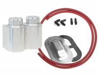 Kugel Komponents (Brake/Clutch Pedal Assemblies) - Brake and Clutch Reservoirs  - Accessories - Aluminum Double Remote Reservoir Kit Corvette Master