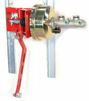"Brakes and Brake Kits - 90° Under Dash Brake Pedal Assembly With 1"" Bore Aluminum M/C and 7"" Booster"